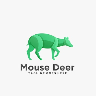 Logo illustration mouse deer pose gradient colorful
