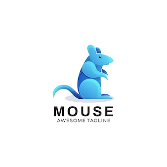 Logo illustration mouse gradient colorful style.