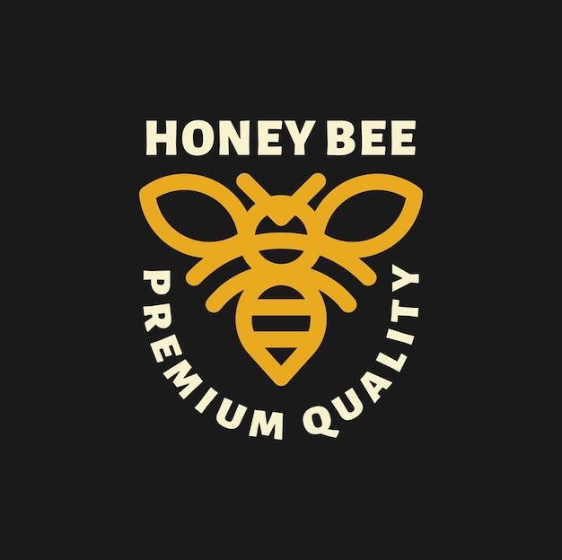 Логотип иллюстрации пчелы в набросках дизайна