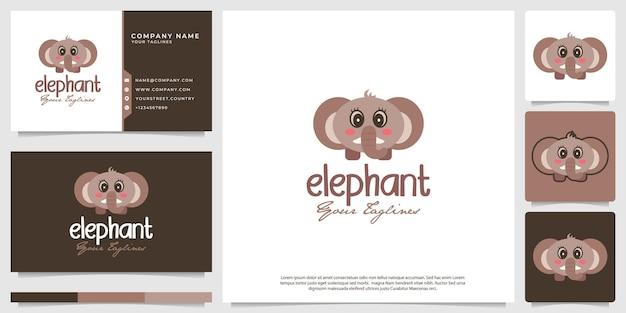 フレンドリーな象のロゴイラスト