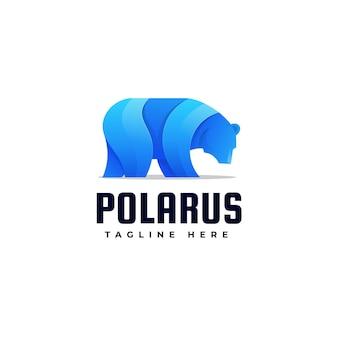 Иллюстрация логотипа полярный медведь градиентом красочный стиль