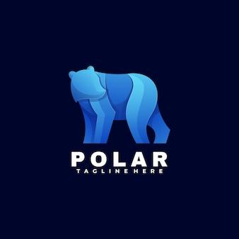 Логотип иллюстрация полярный градиент красочный стиль.