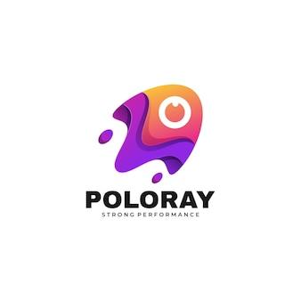Логотип иллюстрация поло рэй градиент красочный стиль.