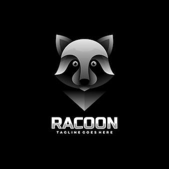 Logo illustration raccoon gradient colorful style.