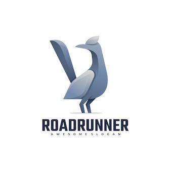 Logo illustration road runner gradient colorful style.
