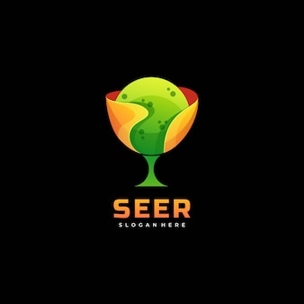 Logo illustration seer gradient colorful style.