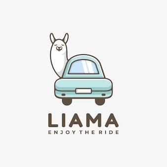Логотип иллюстрация овцы простой стиль талисмана.