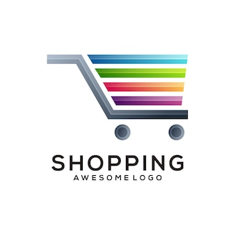 ロゴイラストショッピンググラデーションカラフルなスタイル