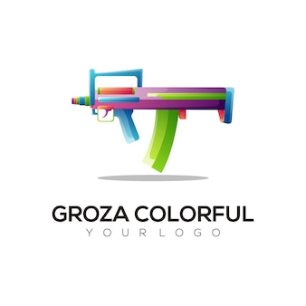 Logo illustration weapon gradient colorful style