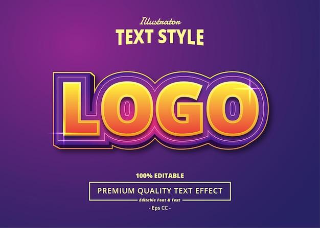 Logo illustrator text effect