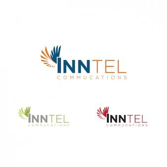 Логотип в разного цвета с крыльями