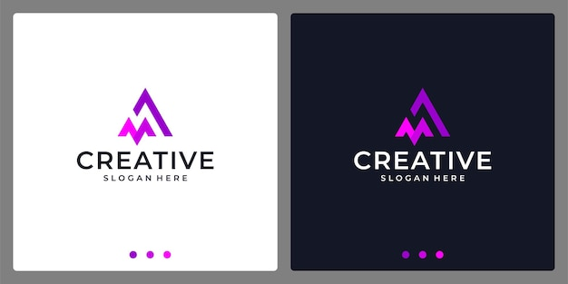Логотип буквица a и m аннотация. визитная карточка.