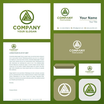 Логотип буквица ze на визитной карточке премиум векторы премиум логотип