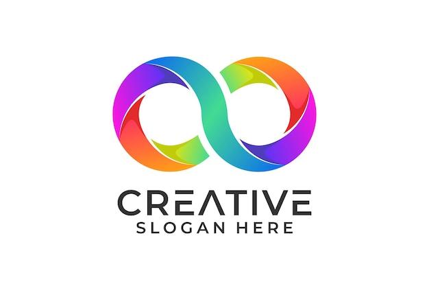 로고 invinity 현대 그라디언트 색상.