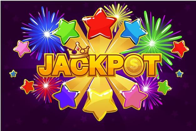 Logo jackpot and shooting star spike