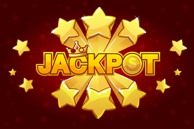 Logo jackpot and shooting star spike,