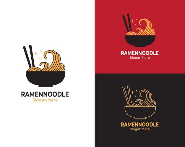 Logo japanese noodles in bowl