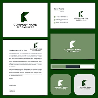 Logo k and business card