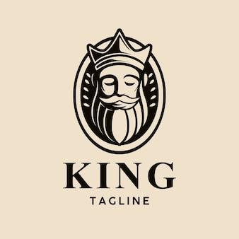 Шаблон головы короля логотипа