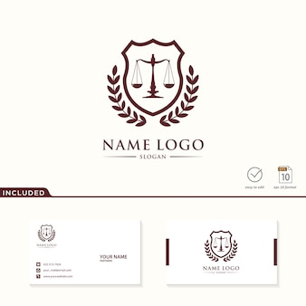 Logo of law firm included business card