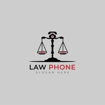 변호사 벡터 디자인을 위한 로고 법률 전화