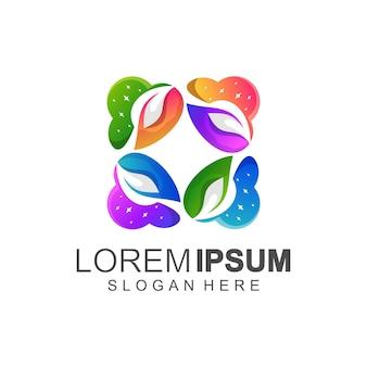 Logo leaf color full