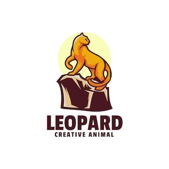 Логотип леопарда простой стиль талисмана