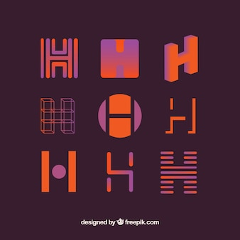 Logo letter h template collection