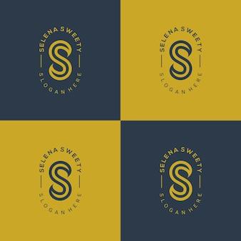 ロゴ文字の美しいミニマリストスタイル