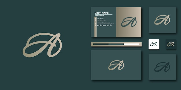 A logo letter template with modern concept