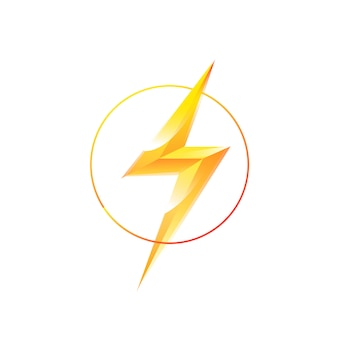 Logo of lightning in a circle