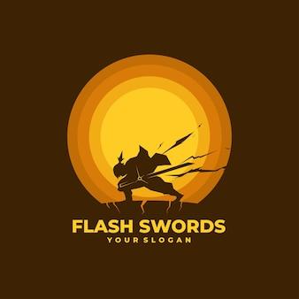 Logo lightning swordsman