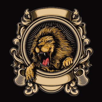 Logo of lion illustration
