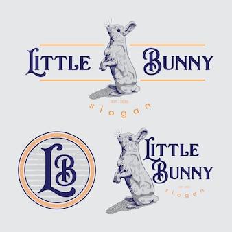 Логотип маленький зайчик.