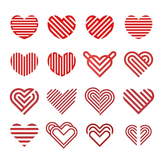 Logo love collection line model vector