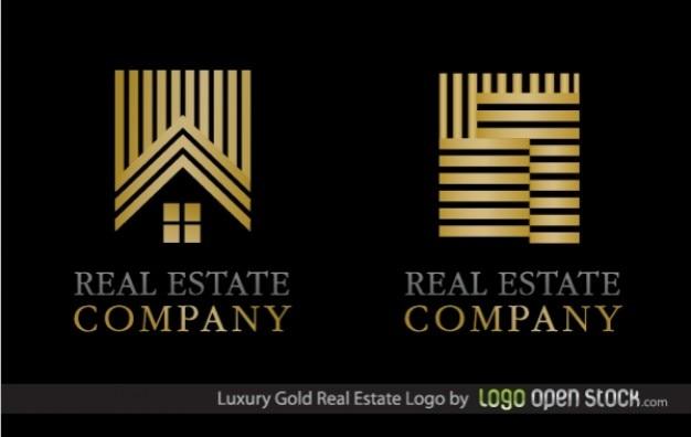 Logo luxury gold real estate company