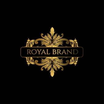 Logo luxury with golden color
