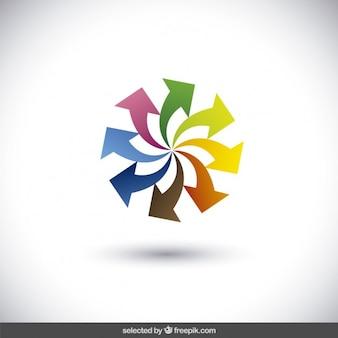 Logo realizzato con frecce colorate