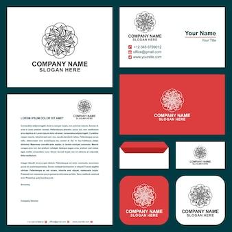 Logo mandala ornament and business card