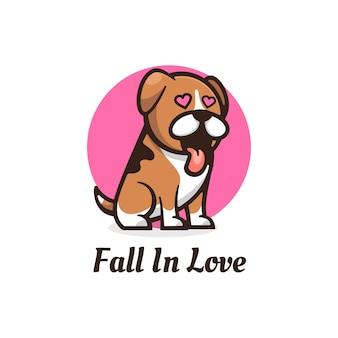 Логотип талисмана fall in love простой стиль талисмана.