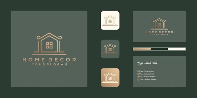 건설, 주택, 부동산, 건물, 재산에 대한 로고 현대 가정. 최소한의 멋진 유행 전문 로고 디자인 템플릿 및 명함 디자인