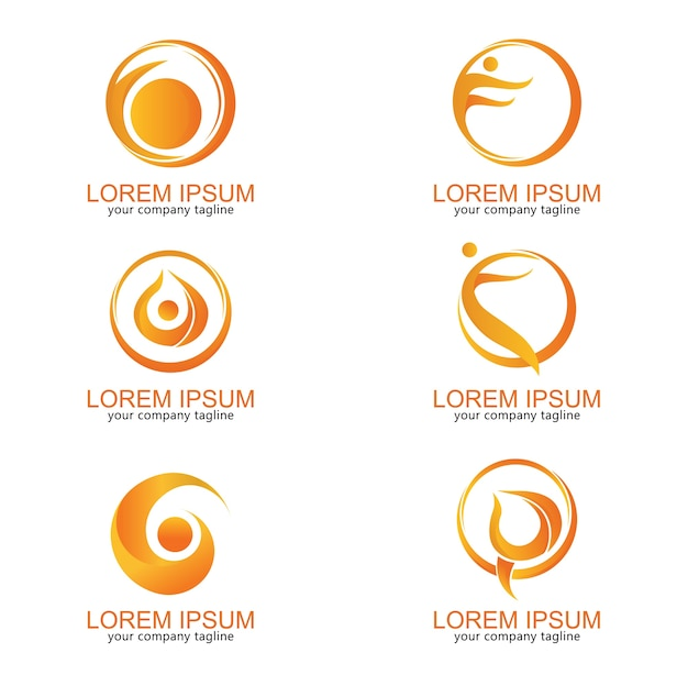 Logo modern moon people yoga health