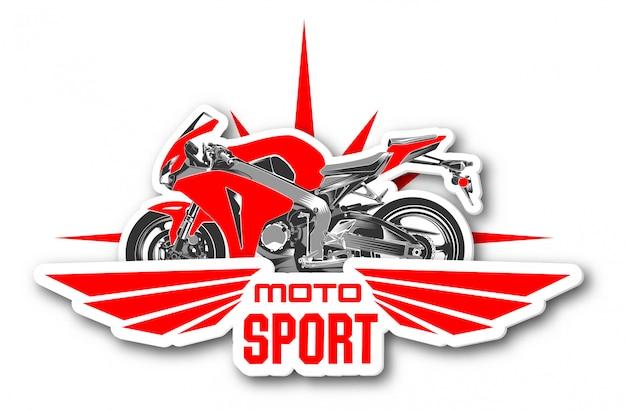 Logo moto sport .