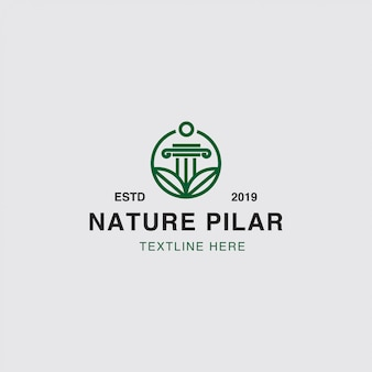 Logo nature and leaf concept