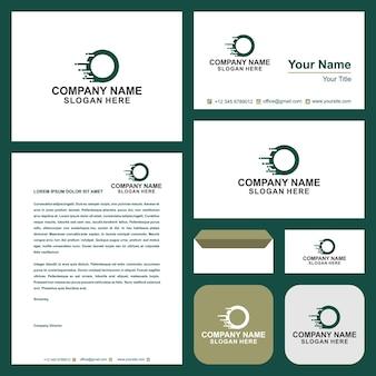 Logo o tech and business card