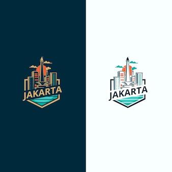 Логотип города джакарты, столицы индонезии