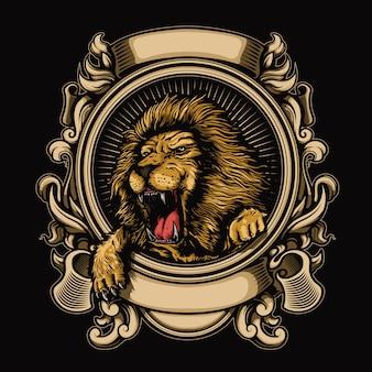 ライオンイラストのロゴ