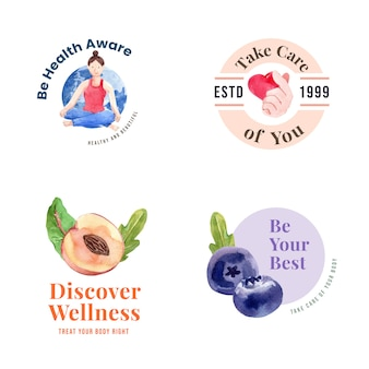 세계 정신 건강의 날 컨셉 디자인 로고 또는 아이콘