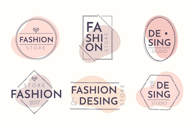 Logo pack in pastel colors