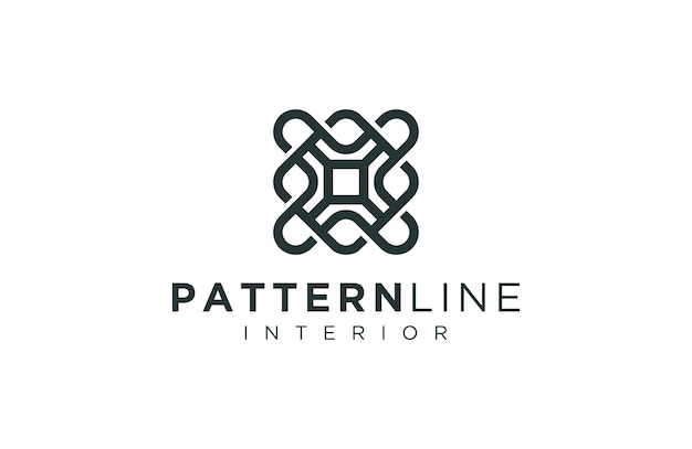Logo pattern decoration with sophisticated outline style